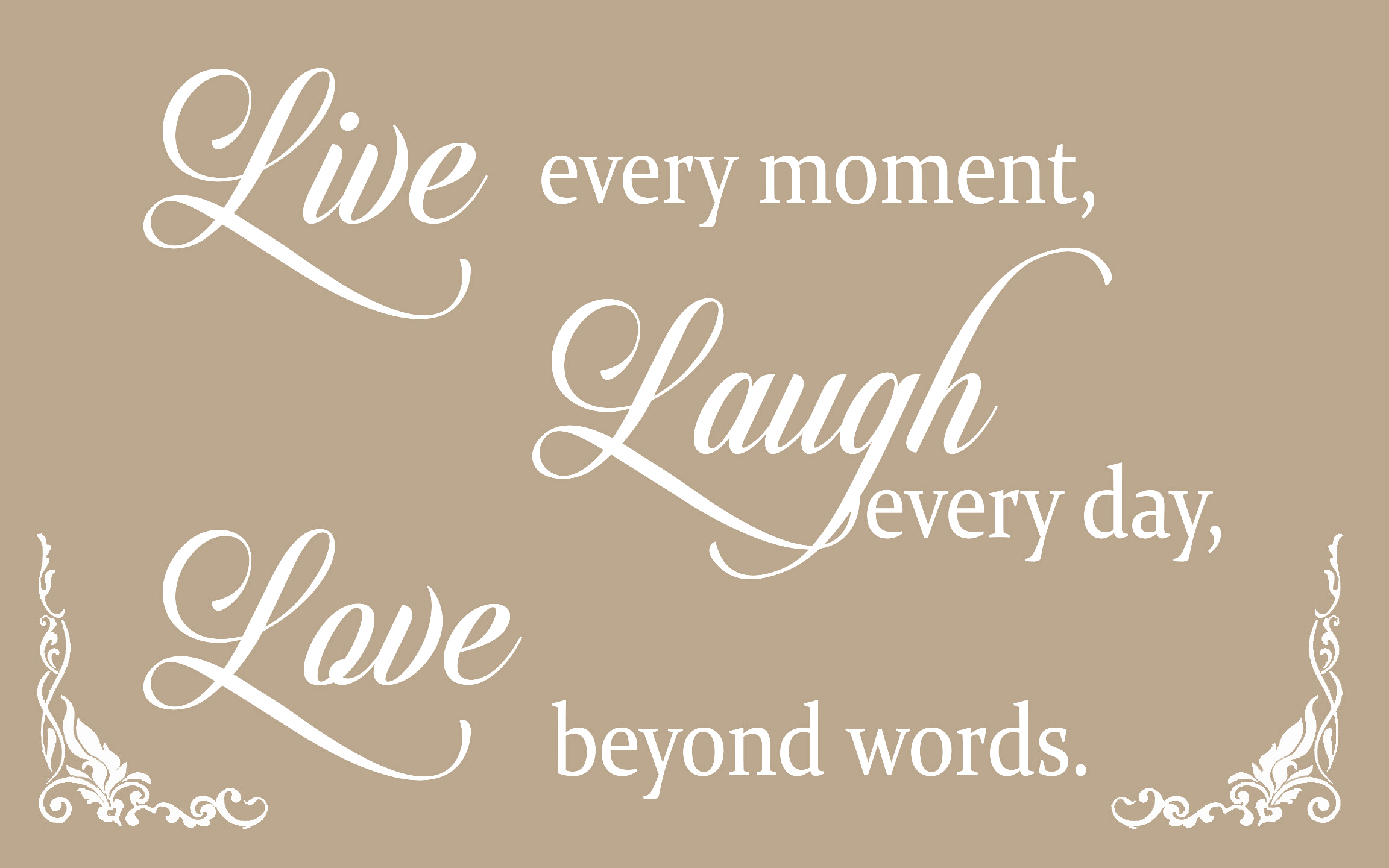 Live Laugh Love Quote Beige Live Laugh Love Quote Canvas Wall Art Picture Print  A1 A2