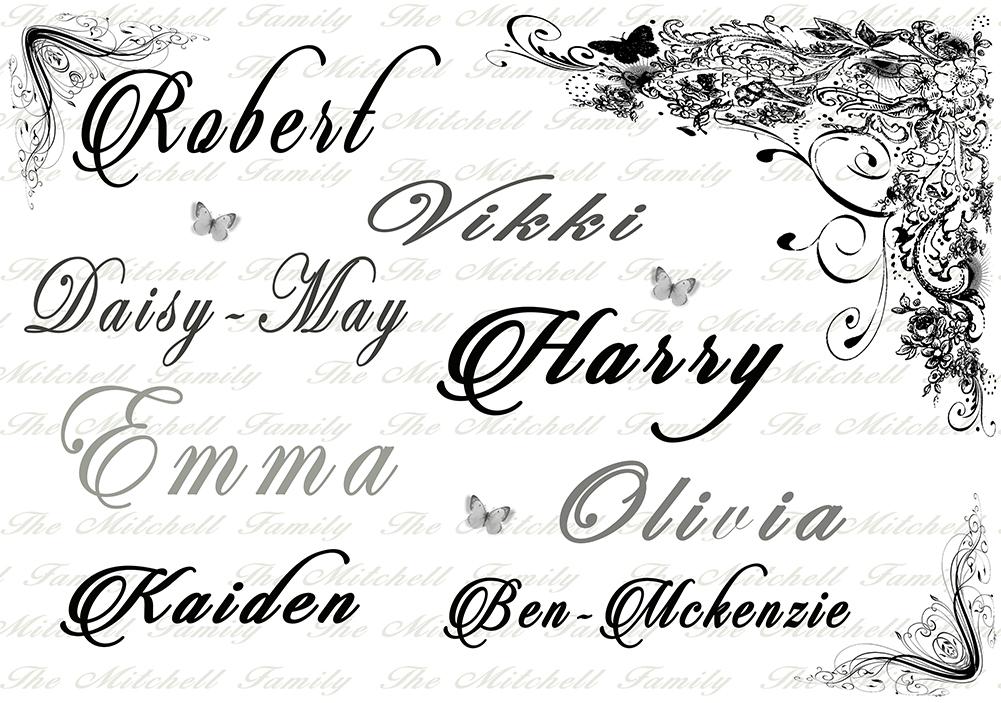 Détails sur Votre nom de famille-Noir, Gris & Blanc Toile Mur Art Image  Print-toutes tailles- afficher le titre d'origine