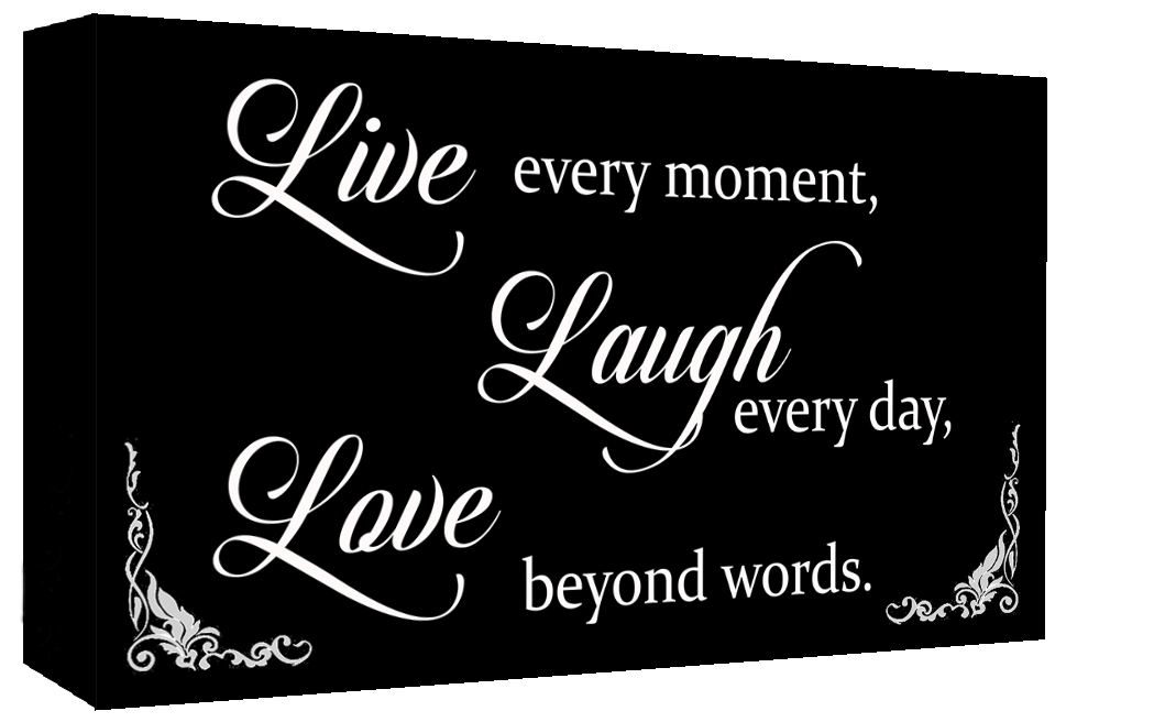 Black White Live Laugh Love Quote Canvas Wall Art Print A60 A60 Inspiration Canvas Love Quotes