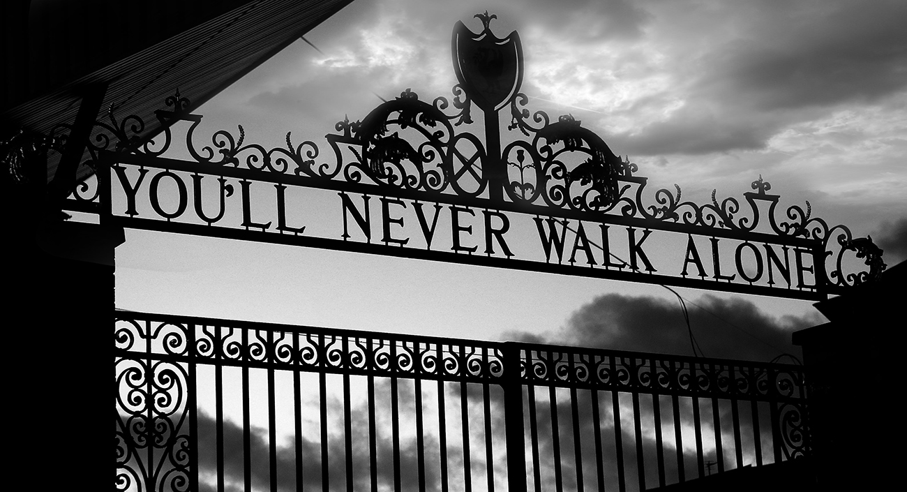 Details about liverpool youll never walk alone canvas wall art picture print black and white
