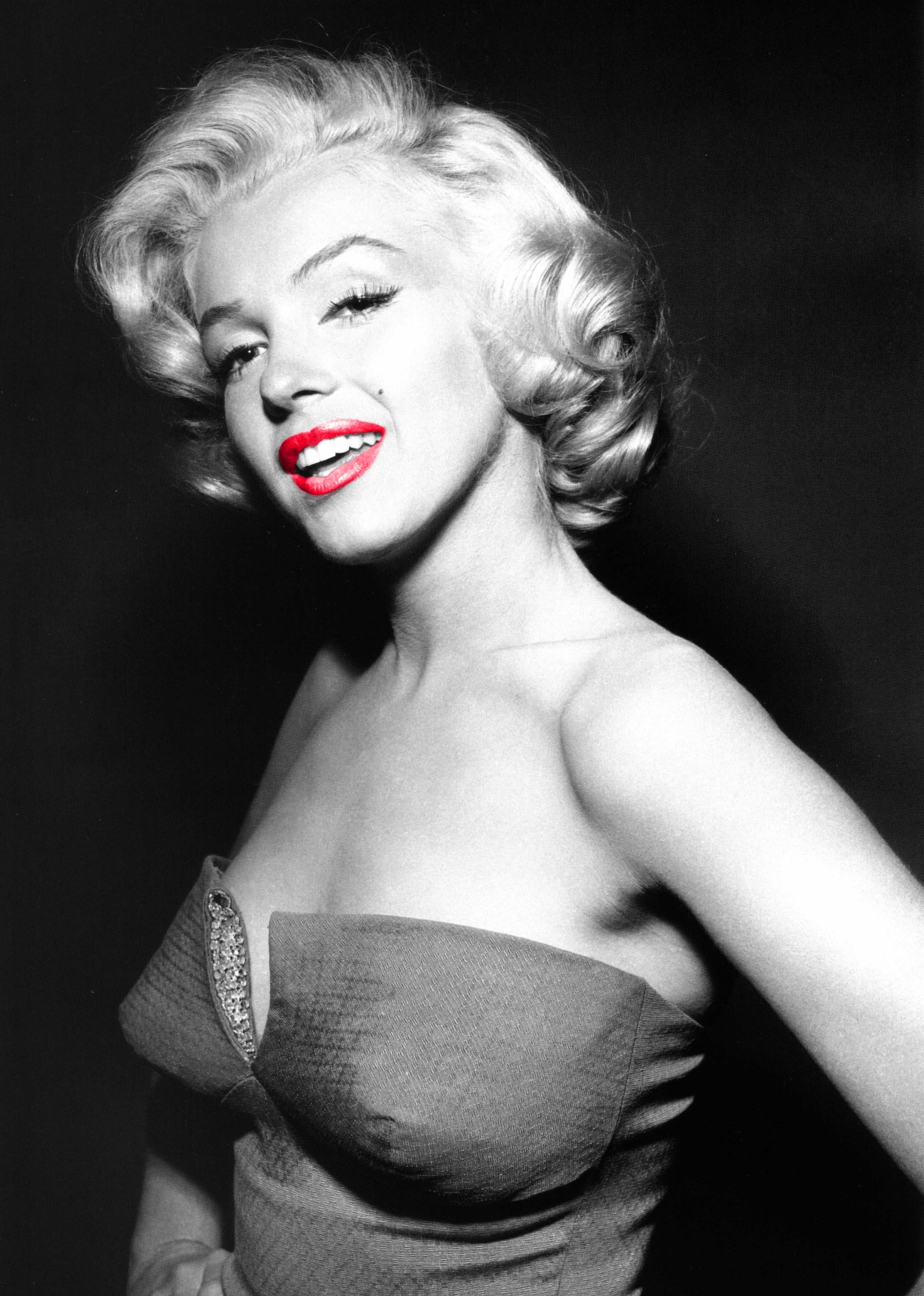 Marilyn Monroe With Red Lips