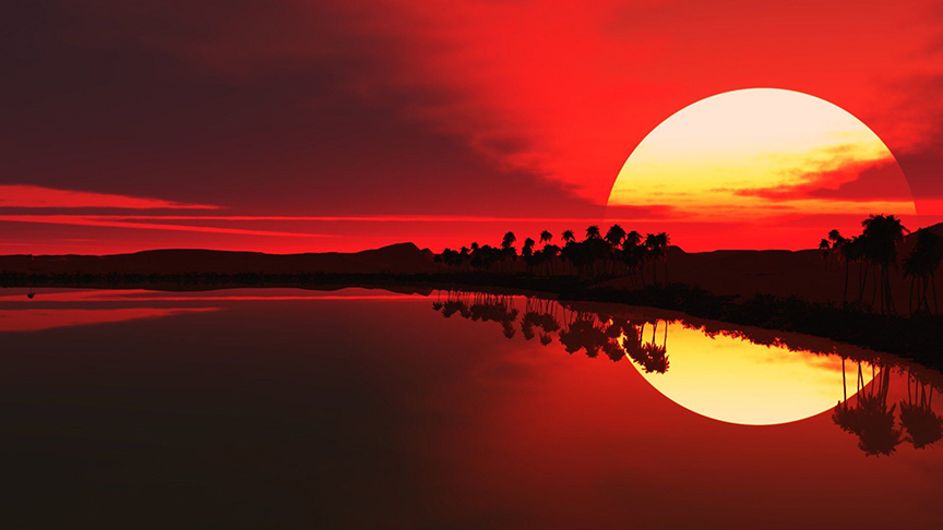 "LARGE RED SEA SUNSET CANVAS PICTURE WALL ART 40/"" x 25/"" 101cm x 63cm"